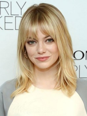 Emma Stone Wavy Capless Celebrity Wig