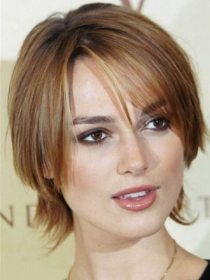 Keira Knightley Affordable Straight Lace Front Synthetic Wig