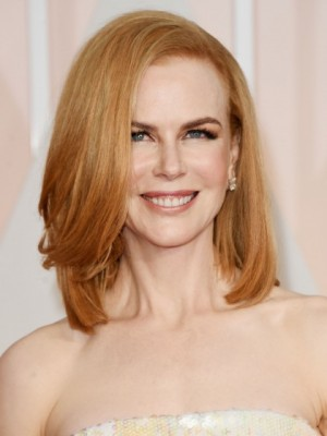 Nicole Kidman Flattering Straight Lace Front Synthetic Wig