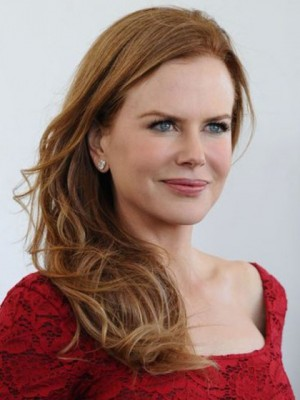 Nicole Kidman Dazzling Wavy Lace Front Remy Human Hair Wig