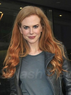 Nicole Kidman Miraculous Wavy Lace Front Synthetic Wig