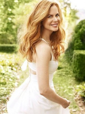 Nicole Kidman Concise Wavy Lace Front Synthetic Wig