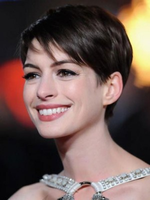 Anne Hathaway Pixie Synthetic Lace Front Wig