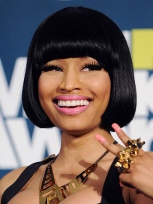 Fashion Nicki Minaj's Human Hair Short Length Celebrity Wig