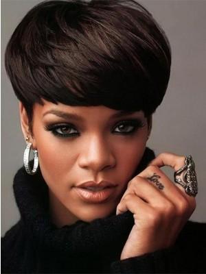 Rihanna Haircut Beautiful Straight Celebrity Wig