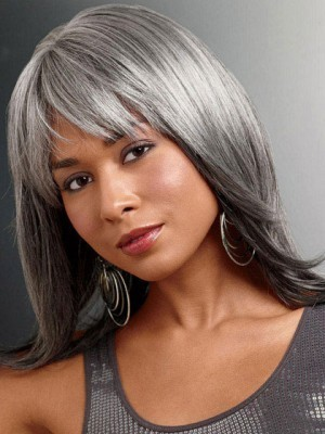 Foxy Silver Synthetic Lace Front Wig