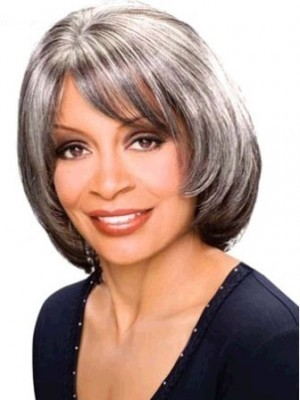 Straight Mid-length Synthetic Capless Wig