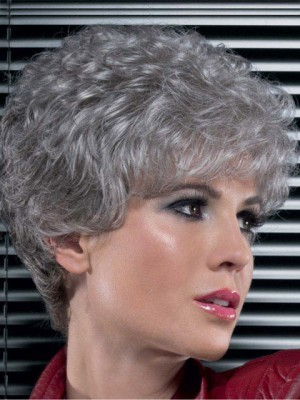 Stylish Synthetic Lace Front Gray Wig
