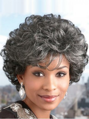 Ultra Lite Short Synthetic Gray Wig