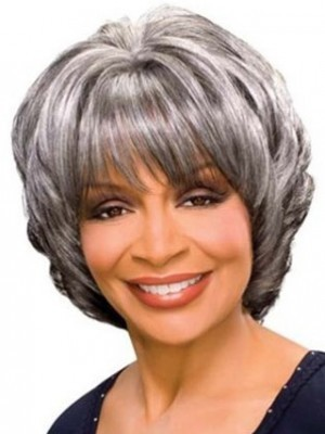 Stylish Wavy Synthetic Gray Wig