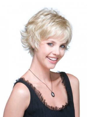 Fashion Wavy Short Capless Gray Wig