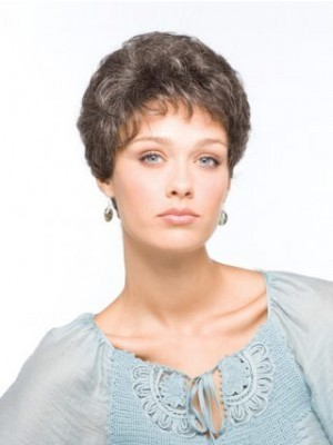 Wavy Short Capless Gray Wig