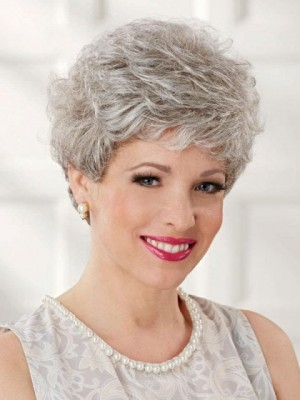 Lightweight Great Style Gray Wig