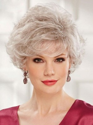Short Gray Wig With Pretty Bangs
