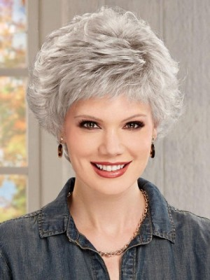 Short Gray Wig With Artful Layering