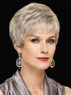 Perfect Pixie Gray Wig With Texturized Layers