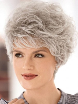 Wonderful Wavy Gray Wig With Full-bodied Layers