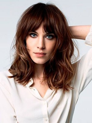 Gorgeous Remy Human Hair Wavy Capless Wig