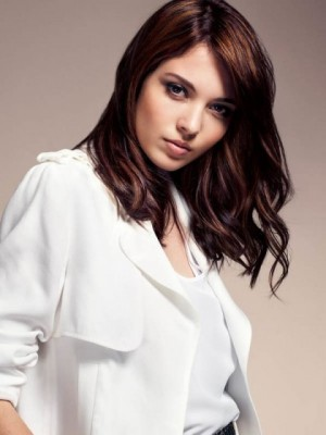 Glamorous Remy Human Hair Wavy Lace Front Wig
