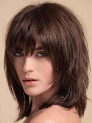 TopQuality Remy Human Hair Straight Capless Wig