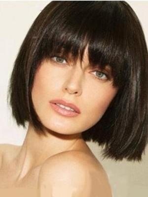 Modern Remy Human Hair Straight Capless Wig