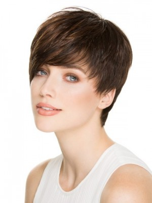 Layered Straight Capless Remy Human Hair Wig
