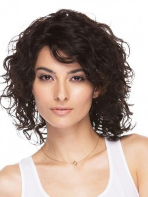 Glamorous Remy Human Hair Wavy Capless Wig