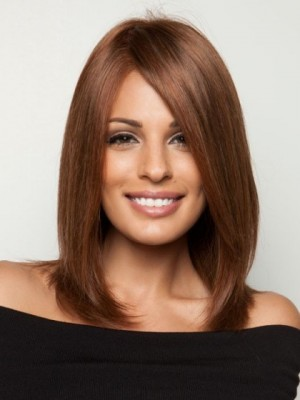 Attractive Shoulder-Length Cut Lace Perfect Human Hair Wig
