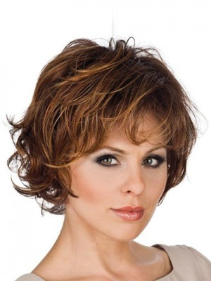 Concise Wavy Capless Remy Human Hair Wig