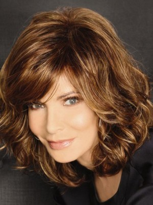 Chic Wavy Capless Remy Human Hair Wig