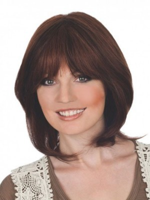 Stupendous Lace Front Natural Straight Human Hair Wig