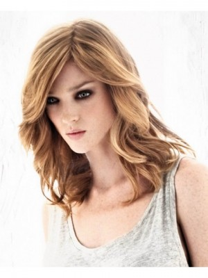 Striking Wavy Lace Front Remy Human Hair Wig