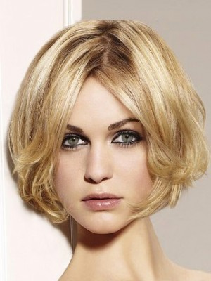 New Style Wavy Bob Lace Wig With Curly Ends