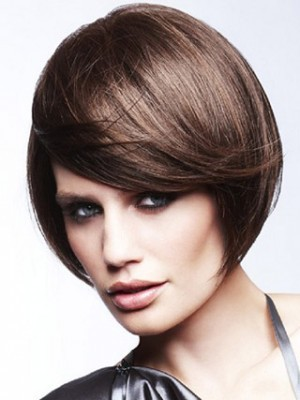 Smooth Straight Remy Human Hair Capless Wig