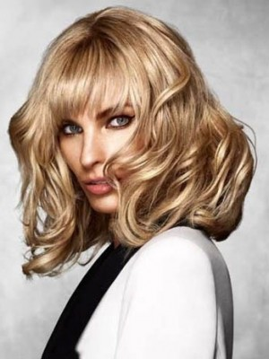 Gorgeous Capless Wavy Remy Human Hair Wig