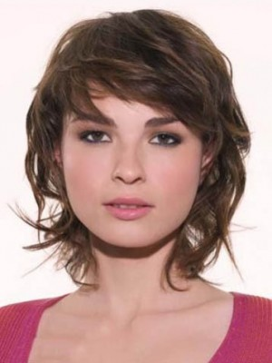 Seductive Lace Front Remy Human Hair Wavy Wig
