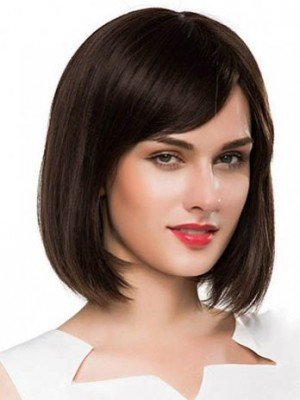 Dazzling Straight Remy Human Hair Capless Wig