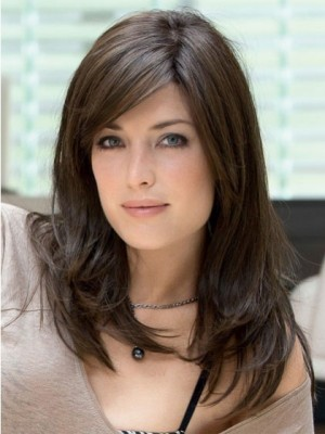 Romantic Long Straight Remy Human Hair Full Lace Wig
