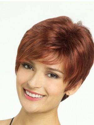 Cute Capless Straight Remy Human Hair Wig