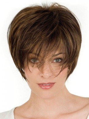 Nice Womens Short Crop Lace Front Remy Hair Wig