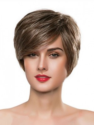 Silky Capless Straight Remy Human Hair Wig