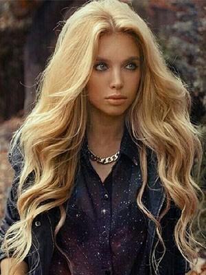 Natural Deep Wave Human Hair Lace Wig