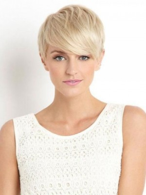 Shimmering Capless Straight Remy Human Hair Wig