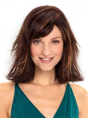 Brilliant Capless Straight Remy Human Hair Wig
