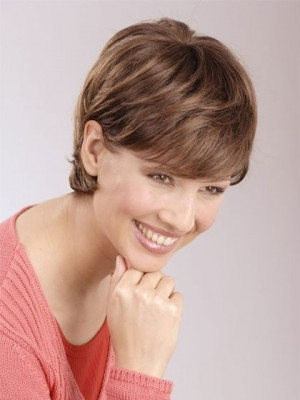 Good Looking New Trends Short Front Lace Remy Human Hair Wig