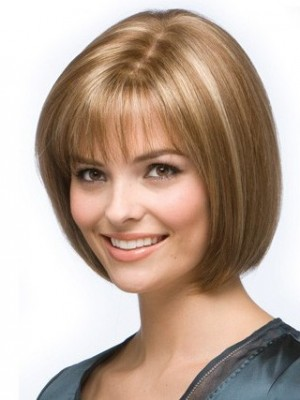 Graceful Bob Style Lace Front Human Hair Wig