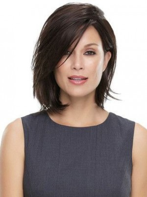 Natural Looking Straight Lace Front Remy Human Hair Wig