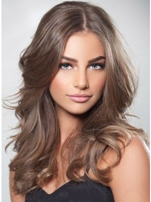 New Fashion Wavy Long Full Lace Human Hair Wig