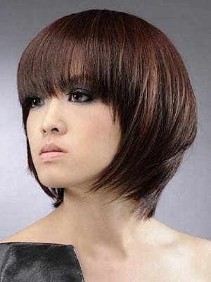 Prodigious Sweet Short Straight Human Hair Wig