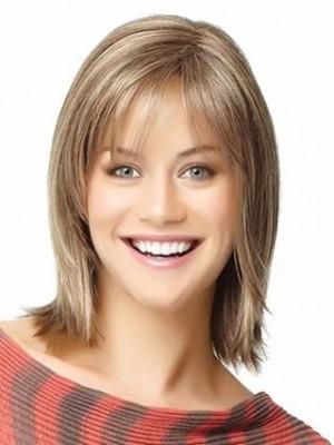 Most Popular Angled-Cut Shoulder Length Human Hair Wig